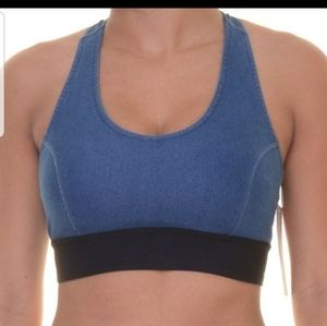 Jessica Simpson Denim Sports Bra Top Size 44D